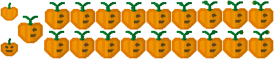 Pumpkin Sprites 2 (Click to enlarge)