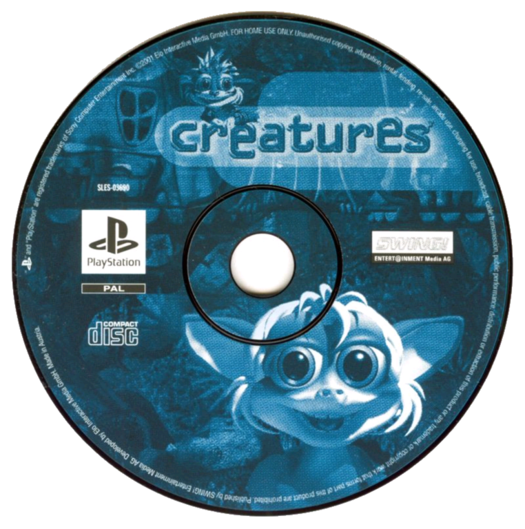 Creatures PS1 PAL disc (Click to enlarge)